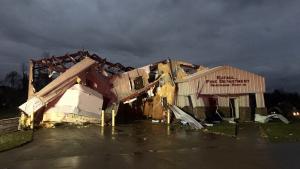 Imatge de la destrucció dels tornados a Alabama