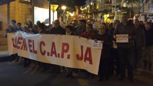 Imatge de la manifestació de veïns de La Canonja
