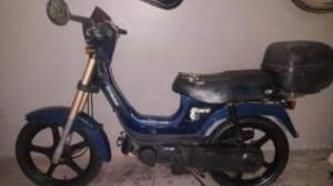 Imatge de la motocicleta robada, en un anunci a Wallapop