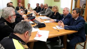 Imatge de la reunió de la Junta Local de Seguretat de Tortosa d'aquest dimecres