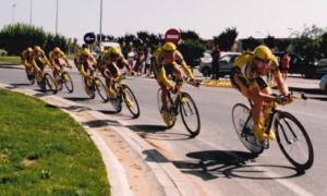 Imatge de la Volta Ciclista amb final a Vila-seca, l'any 2000