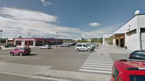 Imatge de la zona on estava prevista la construcció d'una gasolinera