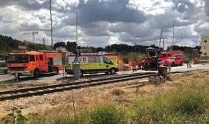 Imatge de l'accident a Chiva
