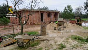 Imatge de les obres denunciades pel Seprona a Roquetes