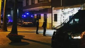 Imatge de l'operatiu policial a Amposta.