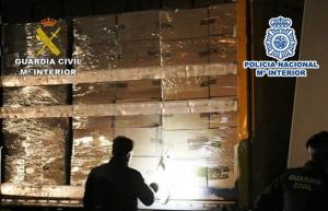 Imatge del camió interceptat pels agents