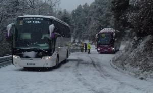 Autocars a la neu