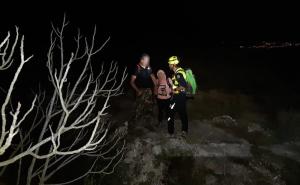 Imatge dels senderistes rescatats