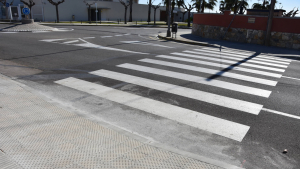 Imatge d'una de les voreres intervingudes, a Torredembarra