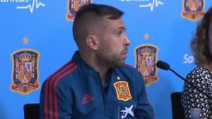 Jordi Alba ha afirmat que a ell no li correspon parlar sobre la decisió de Piqué