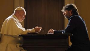 Jordi Évole entrevistando al Papa