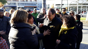 Jordi Perelló a l'entrada dels Jutjats de Reus.