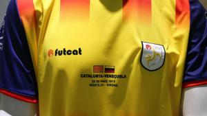 La samarreta que vestiran els futbolistes catalans contra Veneçuela.