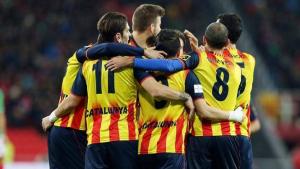 La selecció catalana, en una imatge d'arxiu.