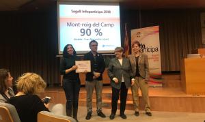 L'Ajuntament de Mont-Roig del Camp rep el certificat d'excel·lència de la UAB