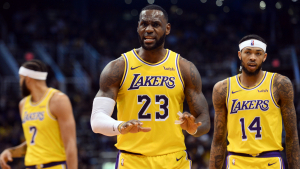 LeBron James, durant un partit amb als Lakers.