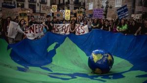 Los estudiantes están convocados este viernes para protestar la poca voluntad política contra el Cambio Climático