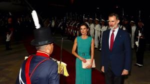 Los Reyes han tenido un singular aterrizaje en Argentina