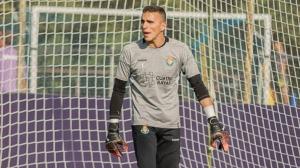 Masip, durant un entrenament del Valladolid.