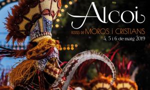 Mupis per promocionar les festes de Moros i Cristians d'Alcoi