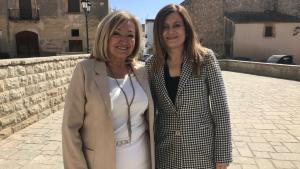 Núria Gómez, cap de llista del PP a Torredembarra, amb la seva número 2 a les eleccions municipals, Yolanda Ortega.