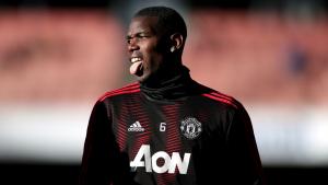 Paul Pogba, abans d'un partit del Manchester United.