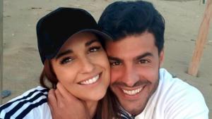 Paula y Miguel pasaron un día en la playa