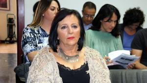 Pilar Abel a la sala de visites del jutjat d'instrucció 11 de Madrid, aquest dilluns 18 de setembre.