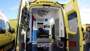 Pla general de l'interior de les noves ambulàncies del SEM.