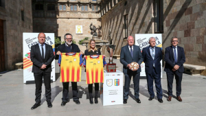 Recepció institucional del Catalunya-Veneçuela al Palau de la Generalitat.