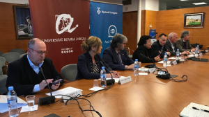 Representants dels hospitals, Diputació i URV han presentat el projecte conjuntament