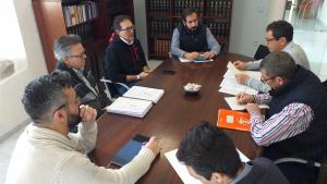 Reunió entre l'Ajuntament de Rodonyà i l'empresa que ha de desplegar la fibra òptica al poble.