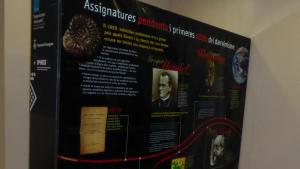 Un dels plafons de l'exposició sobre Darwin a l'Ajuntament del Pla de Santa Maria.