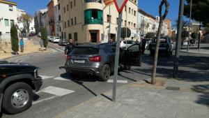 Una imatge del punt on s'ha produït l'accident aquest migdia, a l'avinguda del Marquès de Tamarit d'Altafulla.