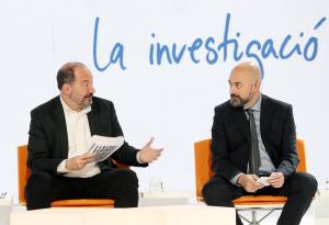 Vicent Sanchis, director de TV3, i Saül Gordillo, director de Catalunya Ràdio i de Mitjans Digital de la CCMA
