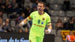 Víctor Tomás, durant un partit amb el Barça Lassa