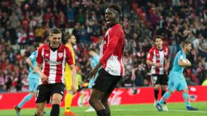 Williams celebra el primer gol de l'Athletic contra l'Atlètic