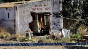 Zona donde se encontraron los cuerpos sin vida.