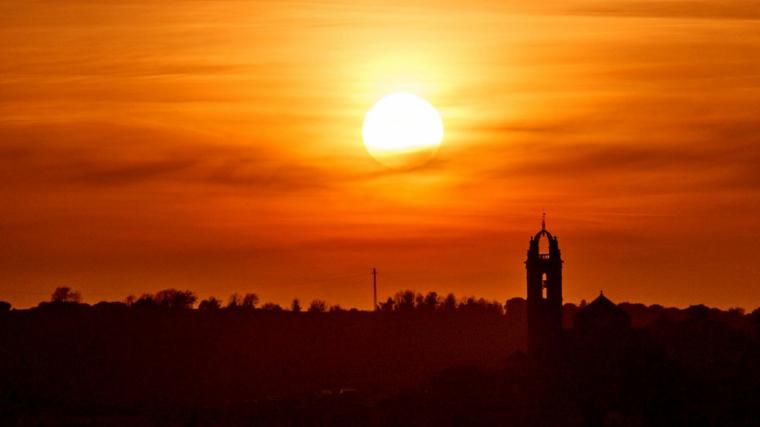 Posta de sol al Moianès dimarts passat