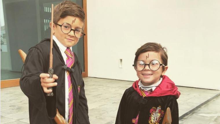 Els dos fills grans de Messi s'han vestit de Harry Potter per Carnaval