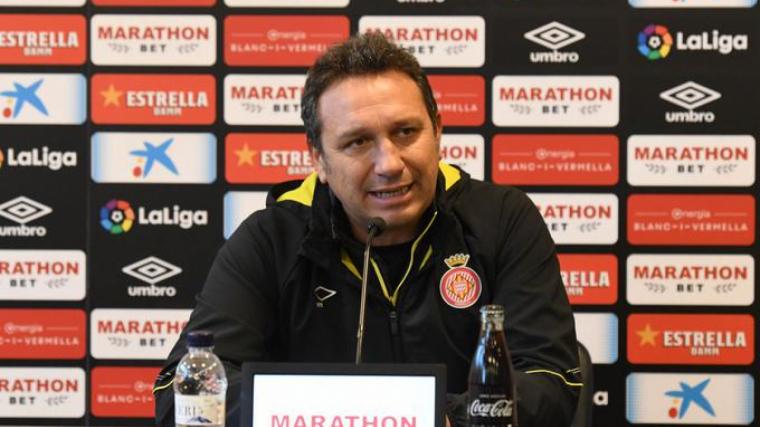 Eusebio Sacristán, durant la roda de premsa prèvia al partit d'aquest diumenge contra el Leganés.