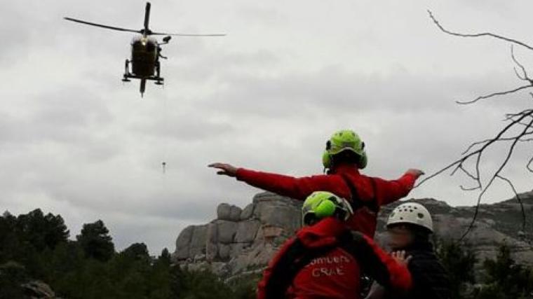L'excursionista ferit ha estat traslladat amb un helicòpter fins al pàrquing on l'esperava l'ambulància