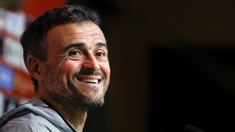 Luis Enrique, durant la roda de premsa posterior a l'anunci de la convocatòria de la selecció espanyola.