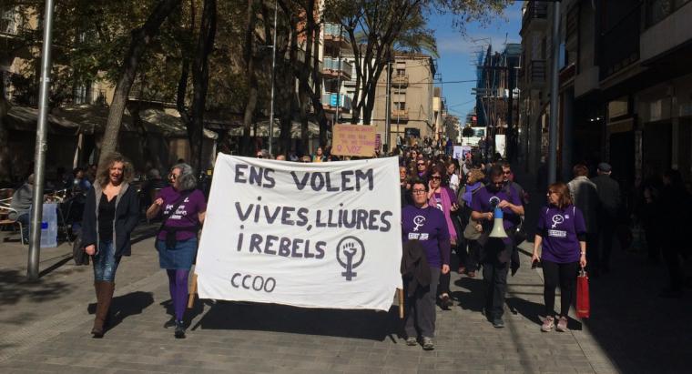 Manifestació CCOO 8M