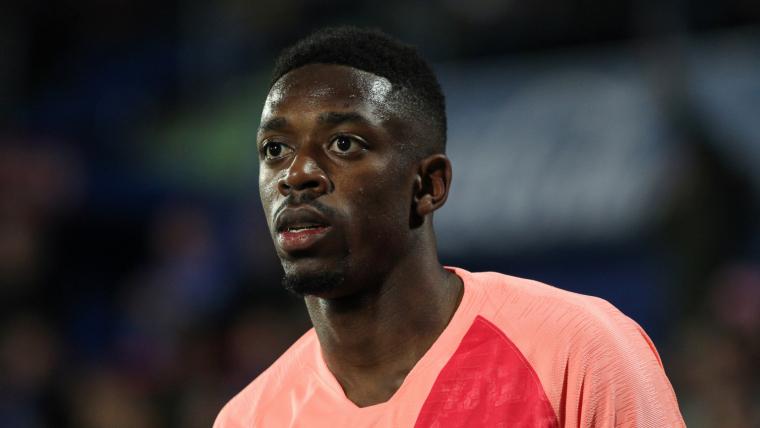 Ousmane Dembélé, durant un partit del Barça.