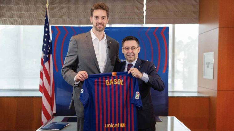 Pau Gasol, nou assesor estratègic i ambaixador global del Barça als Estats Units.