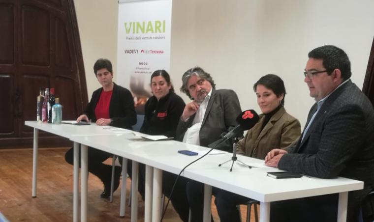Roda de premsa de presentació de la cinquena edició dels Premis Vinari dels Vermuts que es farà a Terrassa