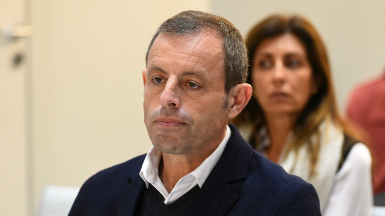 Sandro Rosell, a l'Audiència Nacional.
