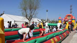 A la festa de Sant Jordi d'enguany tampoc no hi faltaran els inflables per als més menuts.