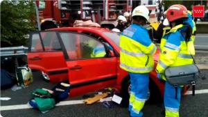 Accidente de tráfico en la A-3 en Fuentidueña del Tajo, Madrid
